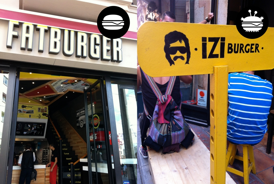 Fatburger (Shake Shack's main competitor) located right beside Shake Shack on Istekal Caddesi and hipster burger place Izi on Sofalyi Sk