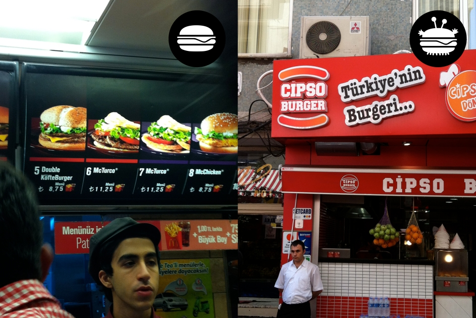Lord of all Burgers (and Evil), McDonalds on Istikal Caddesi and Cipso in Üsküdar