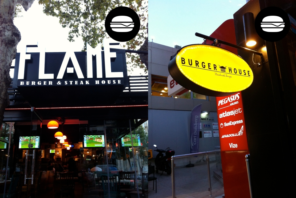 Two high end burger places on Bağdat Caddes
