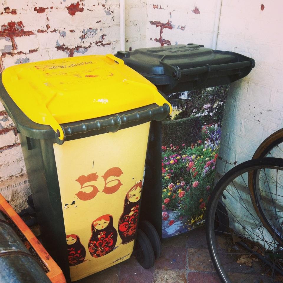 Decorated bins