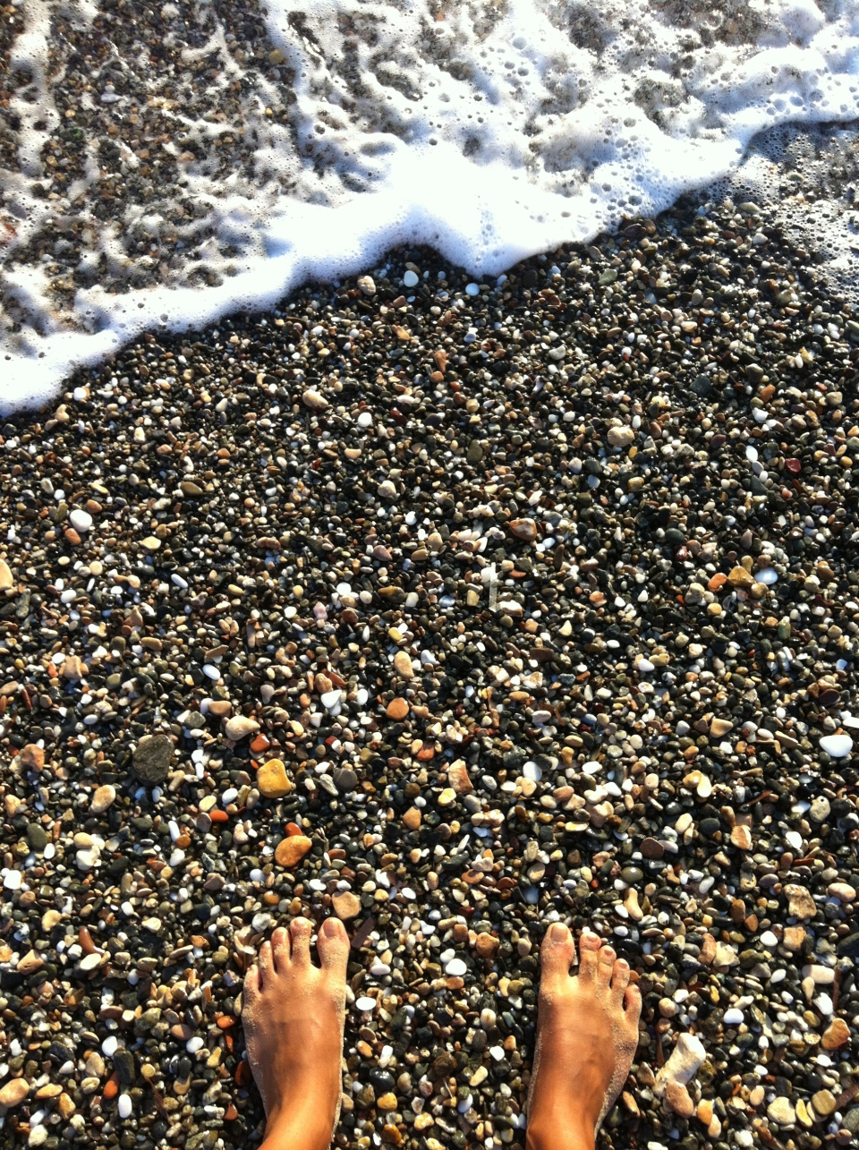 One of the tiny pebbled beaches in Ambelas. I'd like to think that only I know of these little hidden treasures.